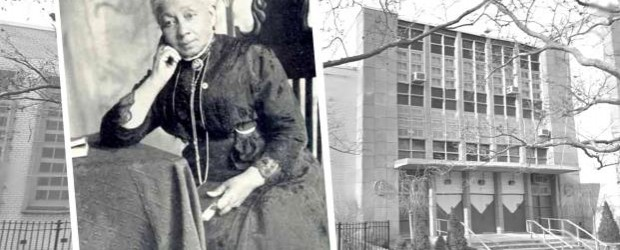 Dr. Susan McKinney (1847-1918) and the Dr. Susan S. McKinney Secondary High School of the Arts at Park Ave and N. Oxford Street in Fort Greene, Brooklyn.