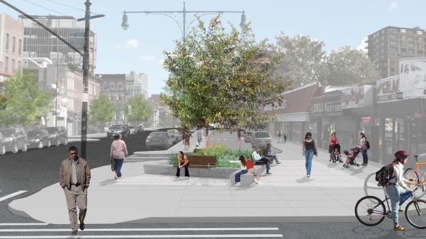 Myrtle Avenue Pedestrian Plaza