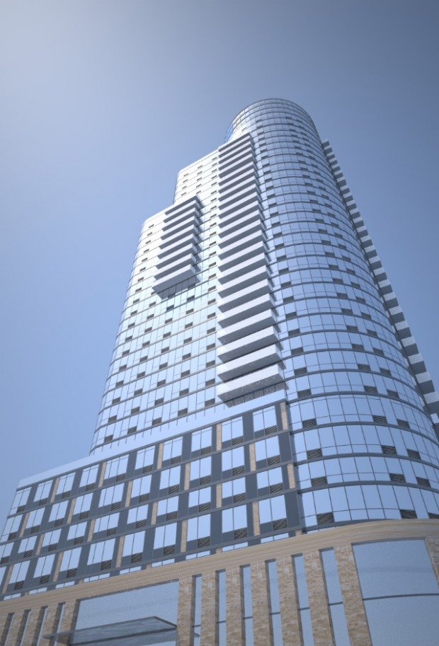 86 Fleet Place, on the corner of Myrtle Avenue.  Rendering provided by Red Apple Group.