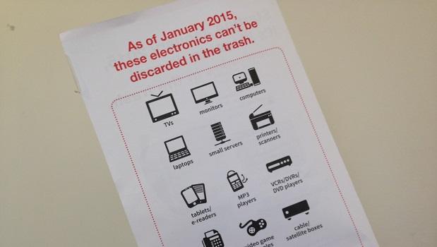 Electronics Disposal Ban Flyer