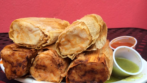 Tamales with Salsa
